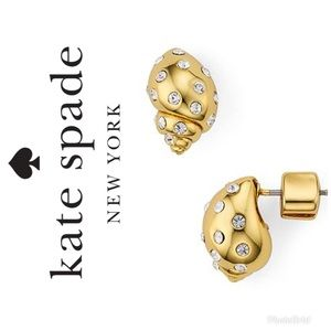 Authentic Kate Spade Gold Shell Studs